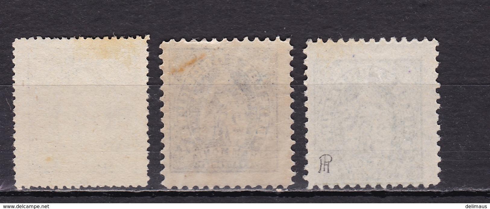 Deutsches Reich Privatpost Hamburg D HAMMONIA Mi.-Nr. 4 A/B Und Probedruck Oliv (unten Inschrift Stadtbrief) - Private