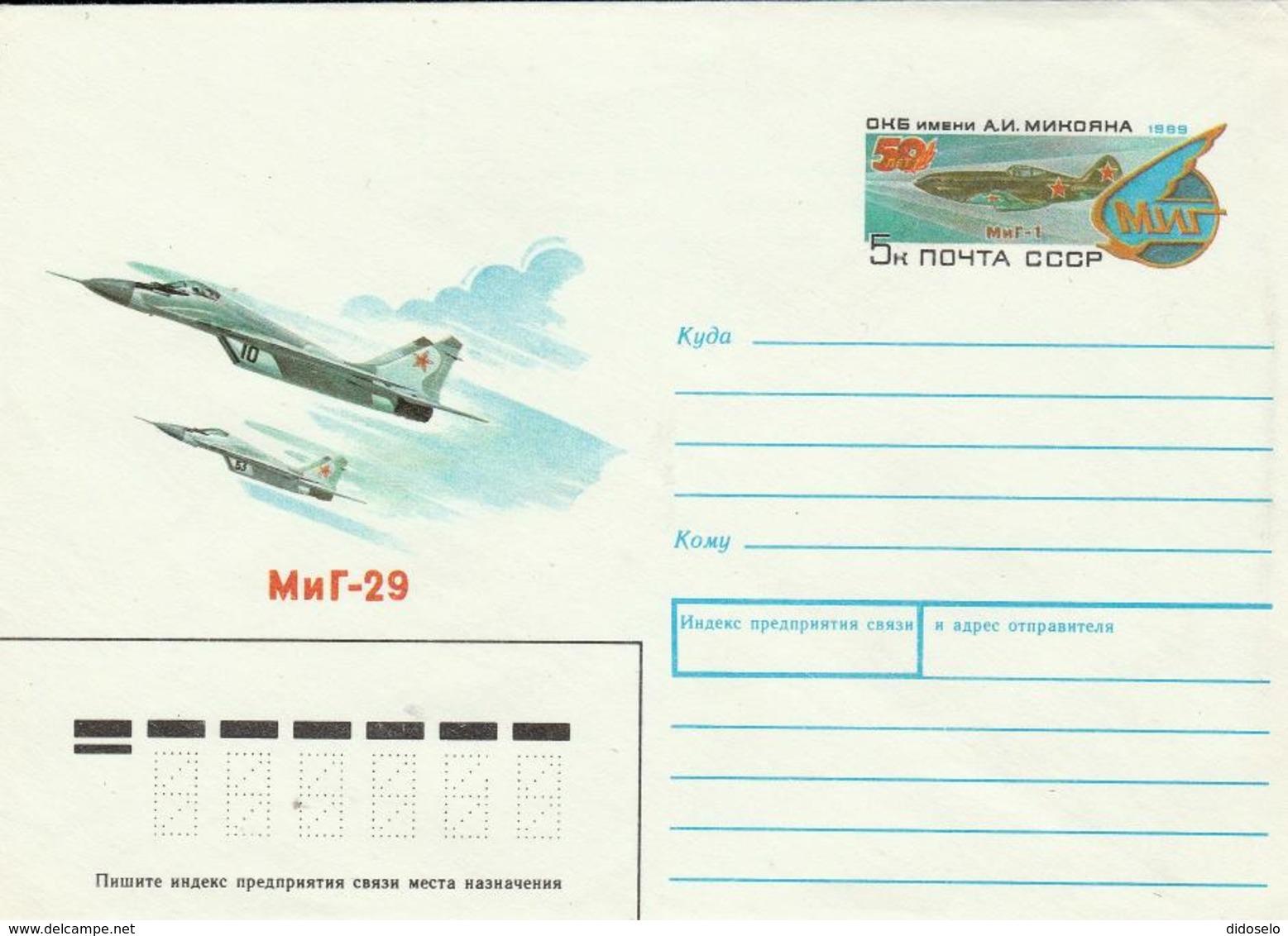 USSR /  Air Mail Stationery Unused - MIG 29 - 1923-1991 USSR