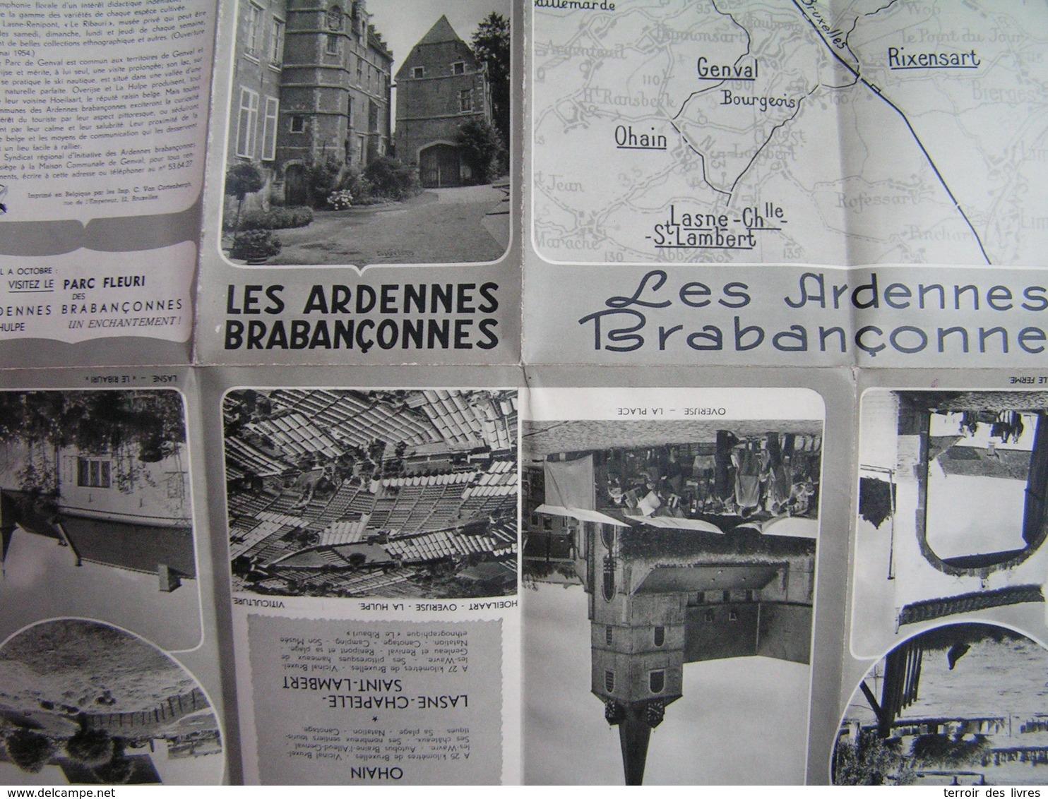 ArdennesDépliant Les Brabançonnes HOEYLAERT OVERYSSCHE LA HULPE GENVAL RIXENSART OHAIN LASNES CHAPELLE SAINT LAMBERT - Cultuur
