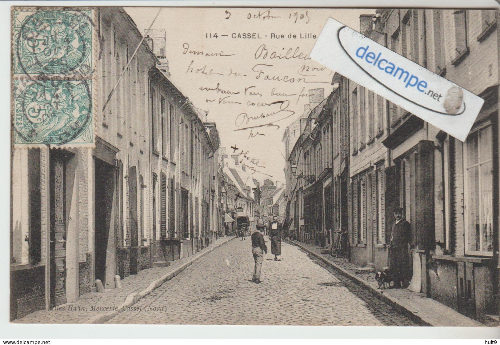CASSEL : Rue De Lille,animée. édit Mlles Hahn. - Cassel