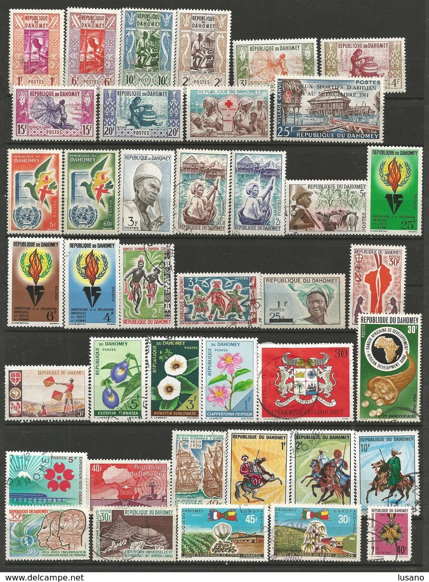 Dahomey - Petite Collection D'oblitérés (avec Quelques Neufs) - Timbres