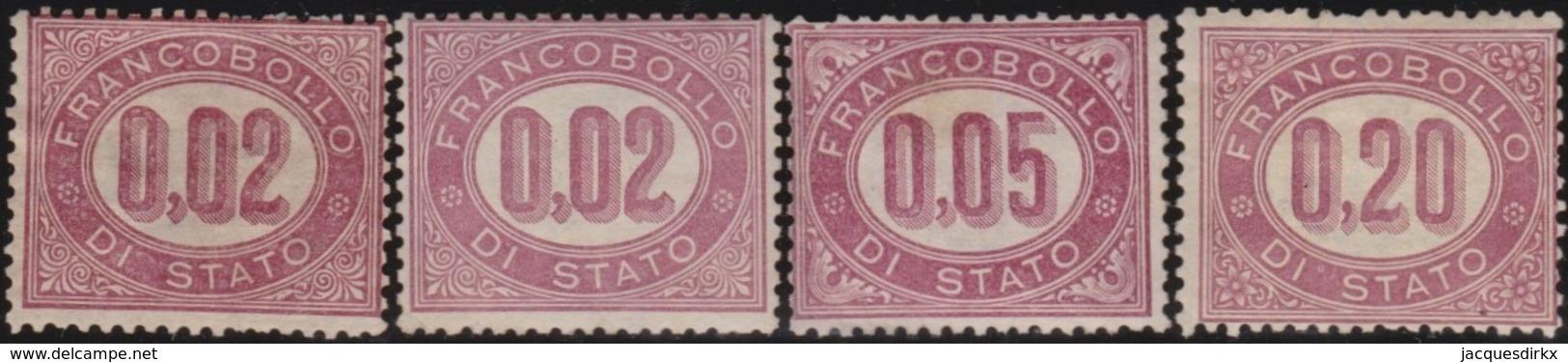Italy .  Yvert    .     Service  1/3       .   *   .   Mint-hinged  .   /    .   Neuf Avec Charniere * - 1861-78 Vittorio Emanuele II