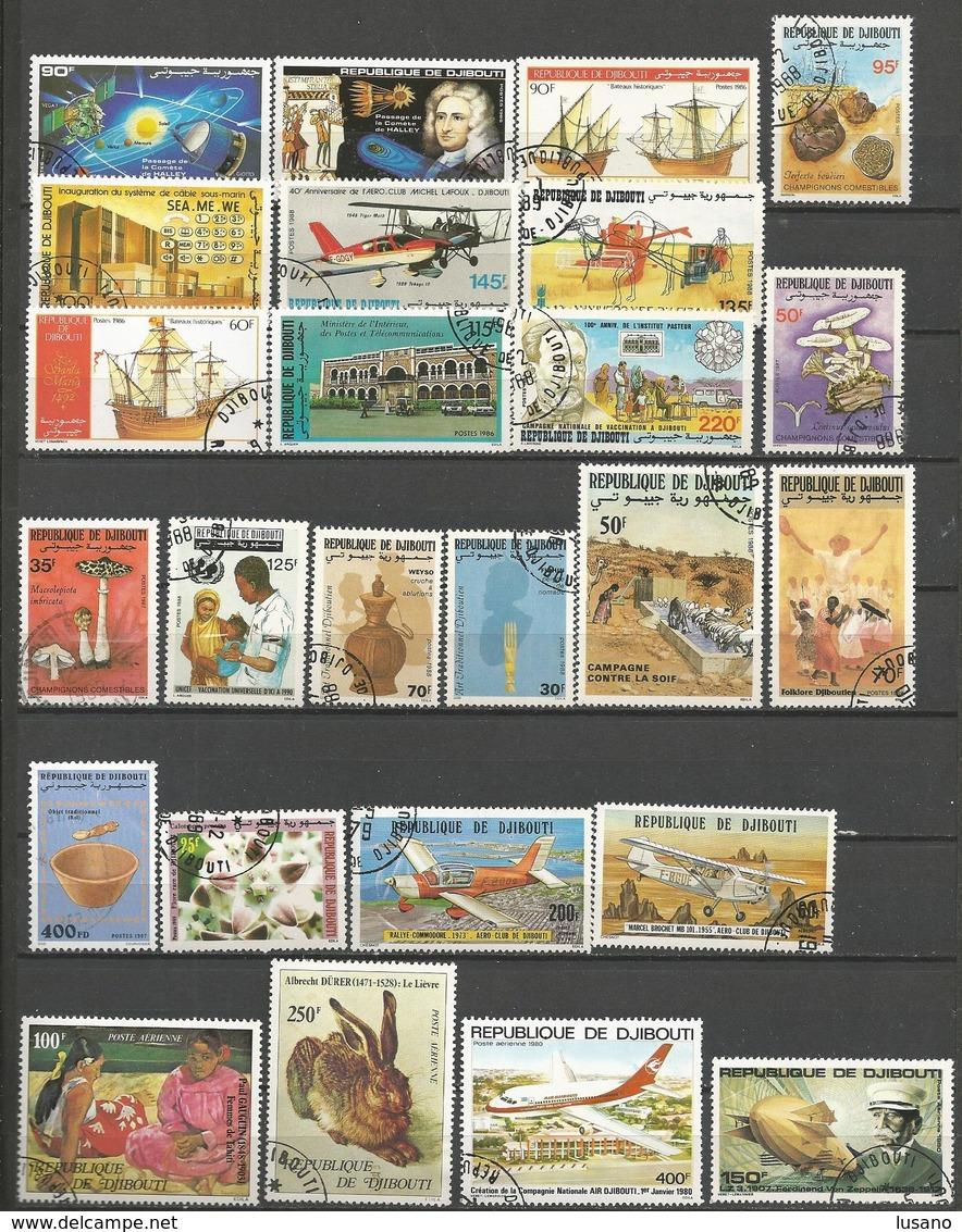 Djibouti - Petite Collection D'oblitérés - Timbres