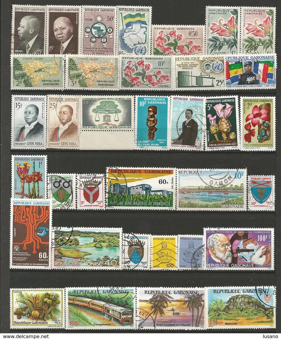 Gabon - Petite Collection D'oblitérés (avec Quelques Neufs) - Timbres