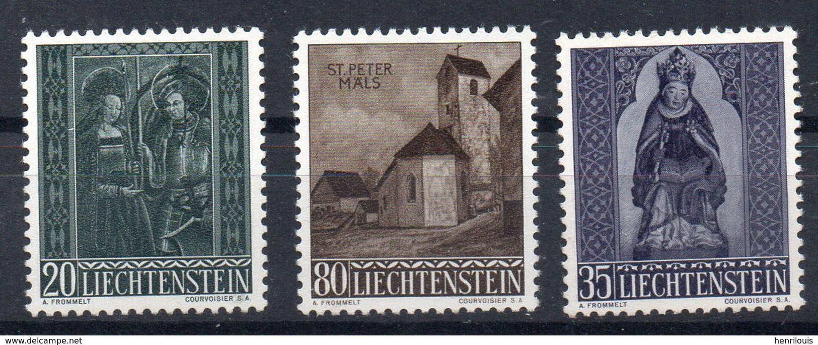 LIECHTENSTEIN  Timbres Neufs **  De 1958  ( Ref 2671 A )  NOEL - Liechtenstein