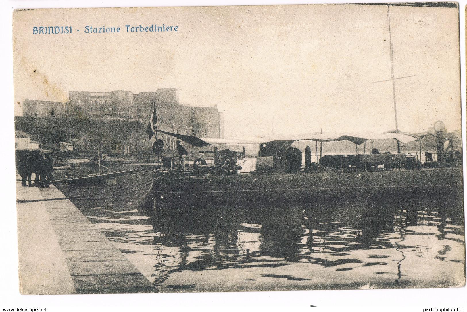 Cartolina - Postcard / Viaggiata - Sent / Brindisi — Stazione Torbediniere - Brindisi