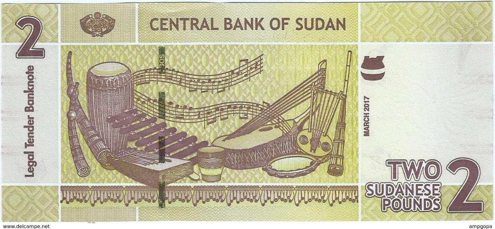 Sudán 2 Pounds 3-2017 Pick 71c UNC - Soudan