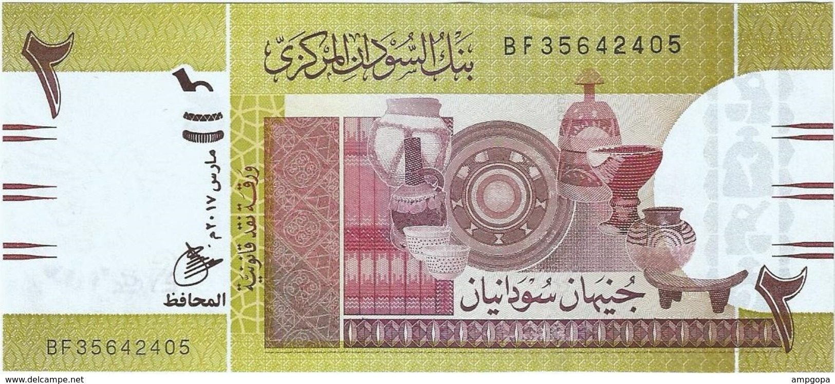 Sudán 2 Pounds 3-2017 Pick 71c UNC - Sudan