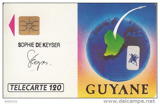 FRENCH GUYANA - Satellite, Arianespace, Sophie De Keyser(120 Units), 12/89, Used - Altri – America