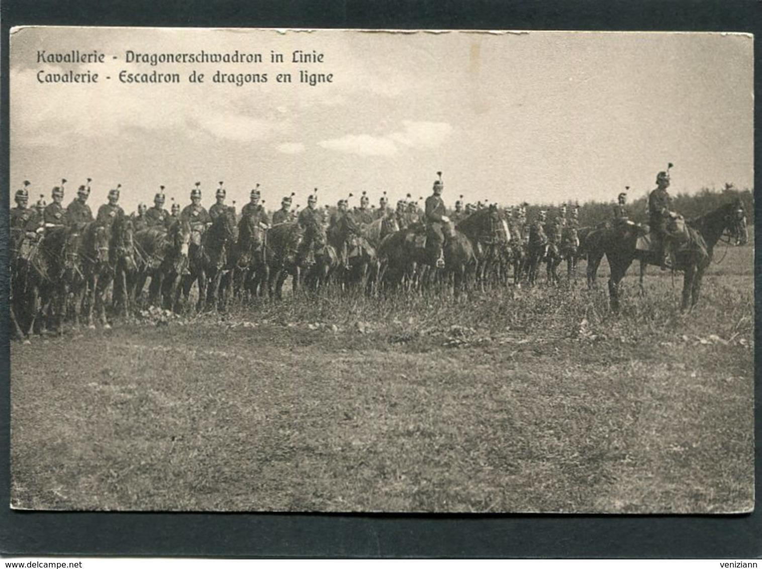 CPA - Kavallerie - Dragonerschwadron In Linie - Regiments