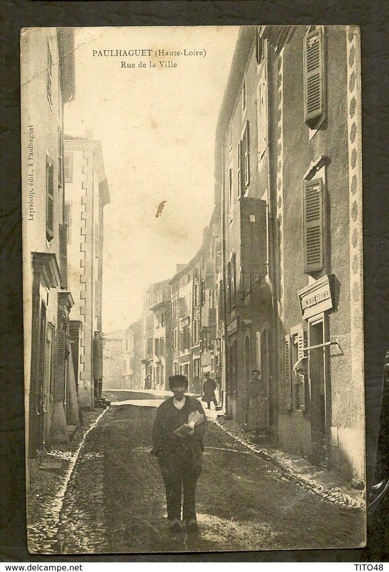 CP-PAULHAGUET - Rue De La Ville - France