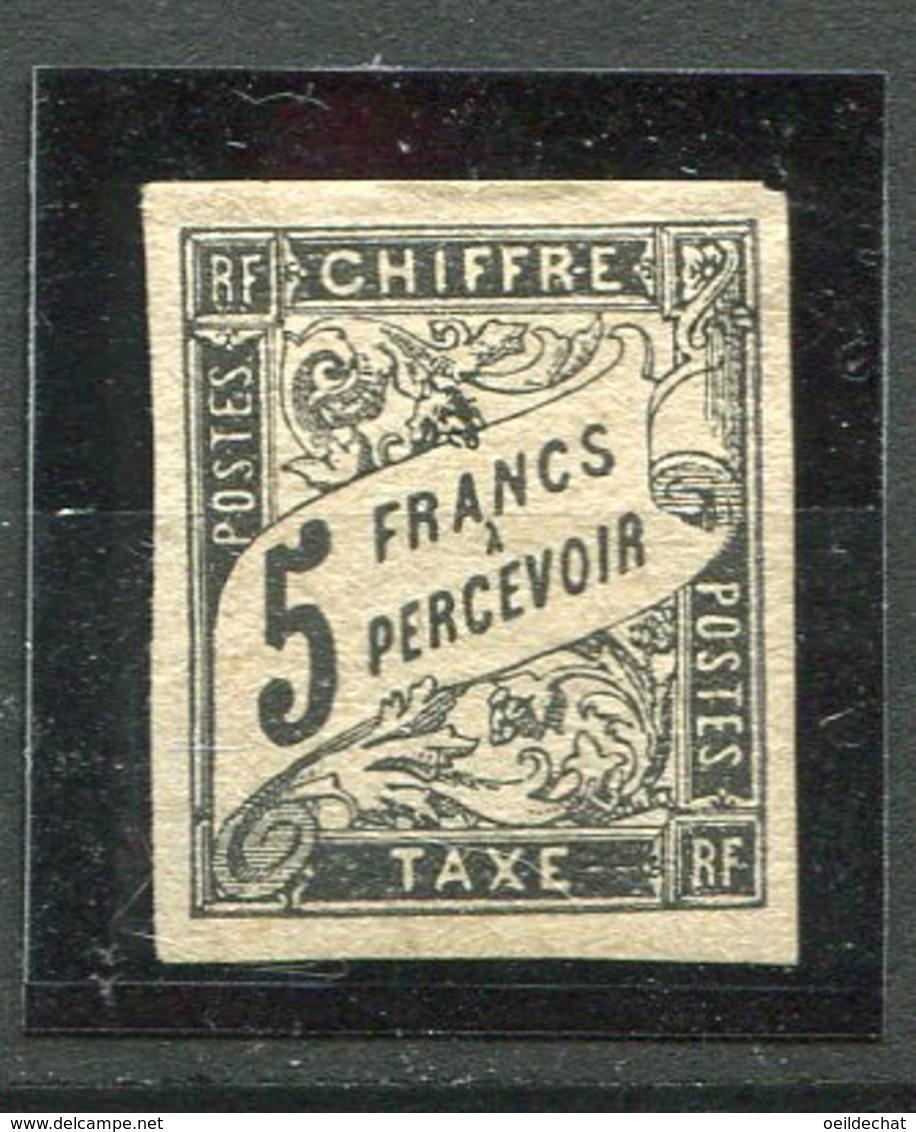 9946 Emissions Générales Taxe14 * 5F Noir Non Dentelé 1884  TB/TTB Belles Marges Cote 500€  Départ 1€  A SAISIR !!!!!! - Taxes