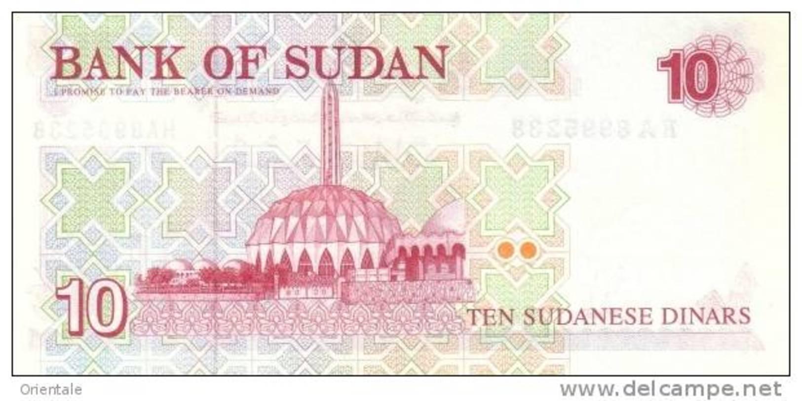 SUDAN P. 52a 10 P 1993 UNC - Soudan