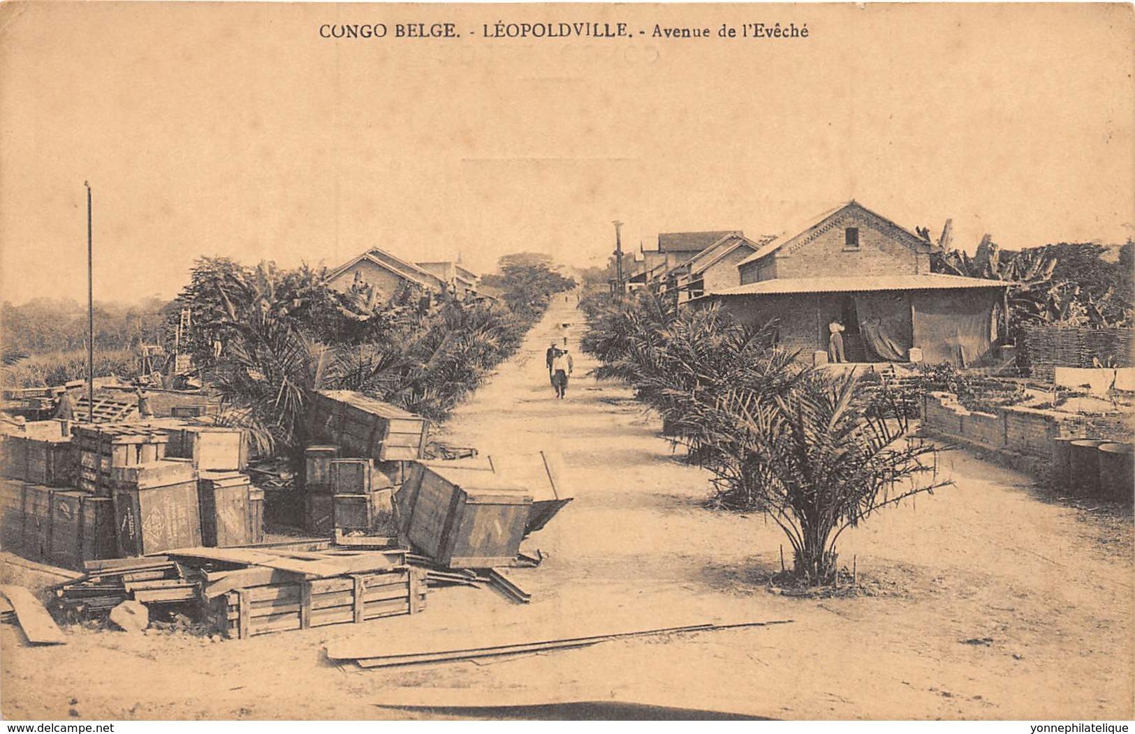 Congo -  Leopoldville / 25 - Avenue De L' Evêché - Kinshasa - Léopoldville