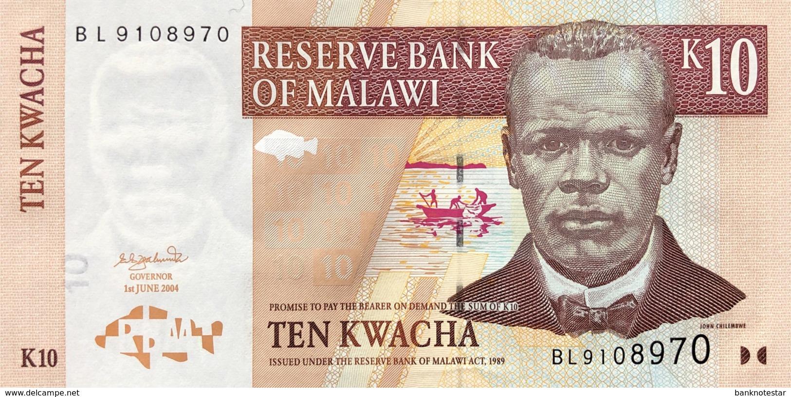 Malawi 10 Kwacha, P-51a (1.6.2004) - UNC - Malawi