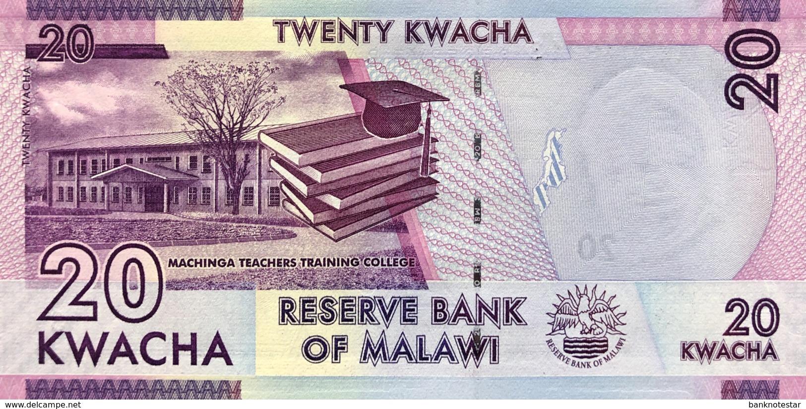 Malawi 20 Kwacha, P-63b (1.1.2015) - UNC - Malawi