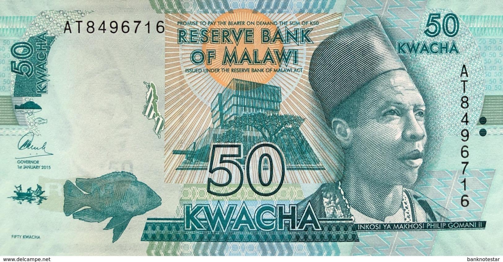 Malawi 50 Kwacha, P-64b (1.1.2015) - UNC - Malawi
