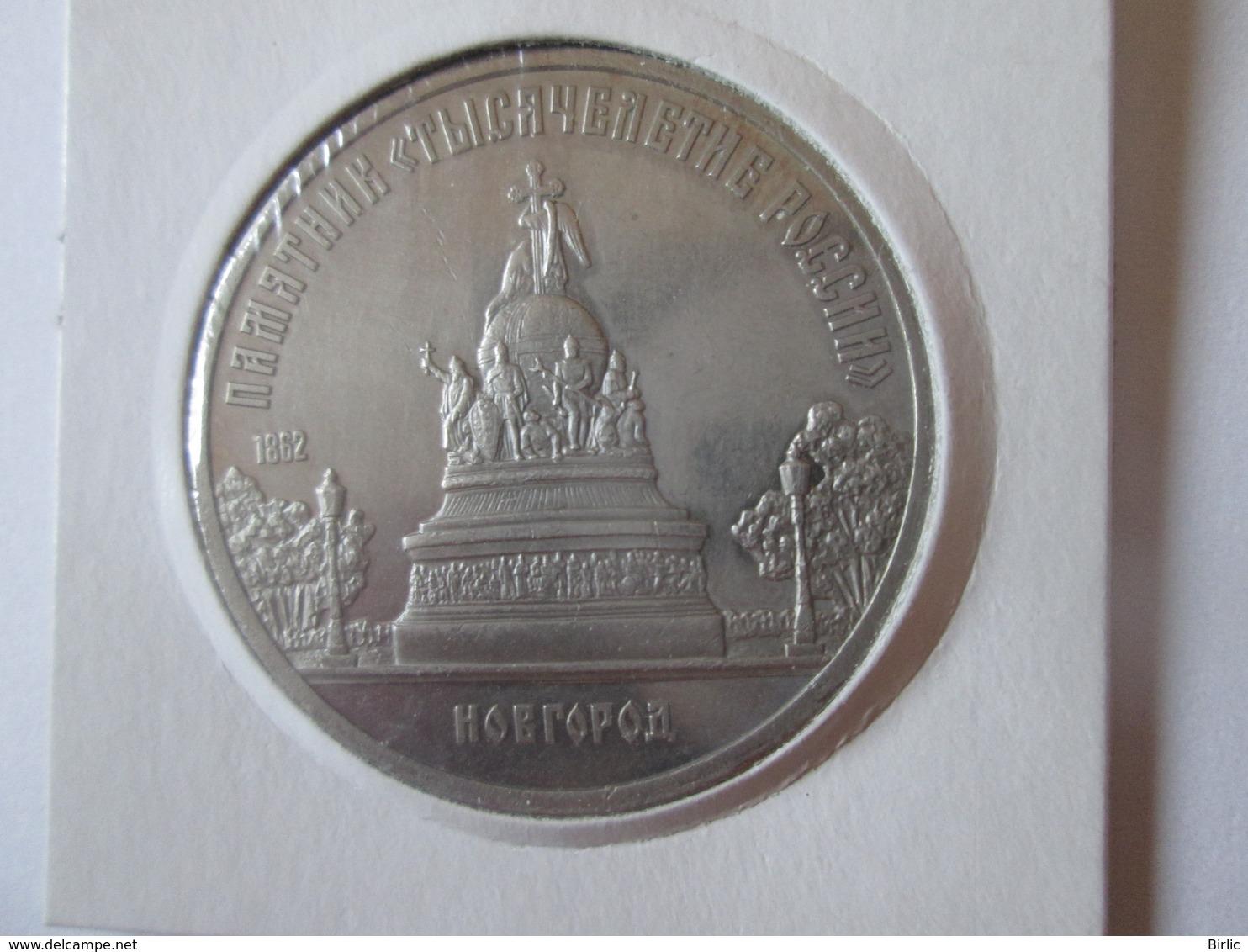 USSR/Russia 5 Rubles 1988 Proof Coin-Novgorod - Rusland
