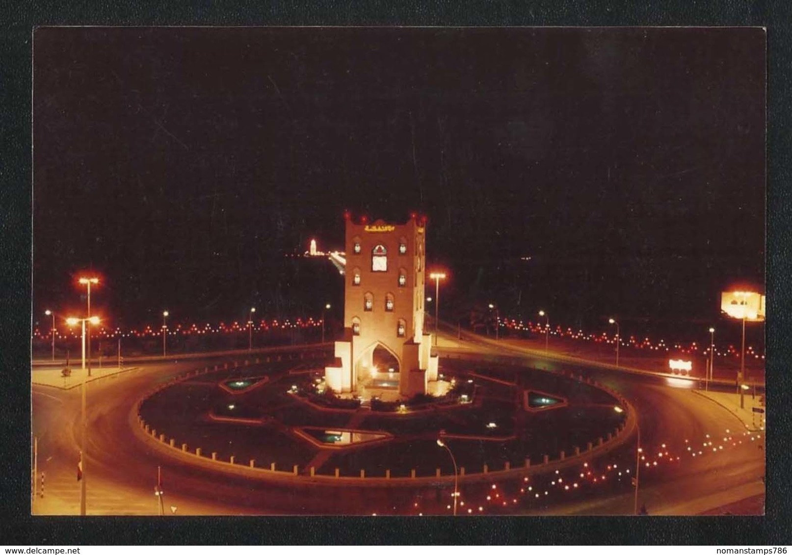 OMAN Night Scene Picture Postcard - Oman