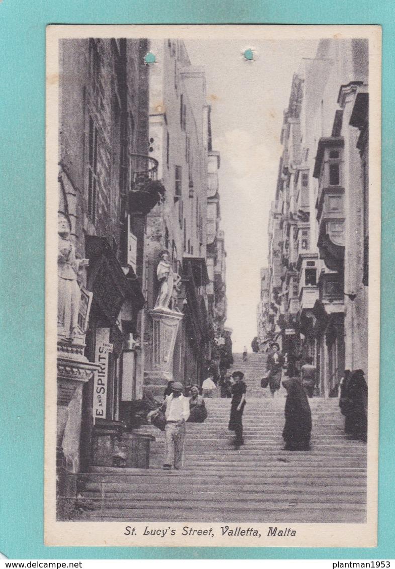Old Post Card Of St.Lucy`s Street,Valletta,Malta,R86. - Malta