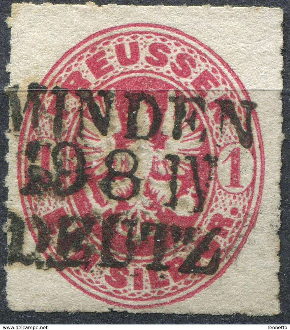 Preußen 1 Sgr Michel 16 Bahnpost MINDEN-DEUTZ (P-46) - Preussen