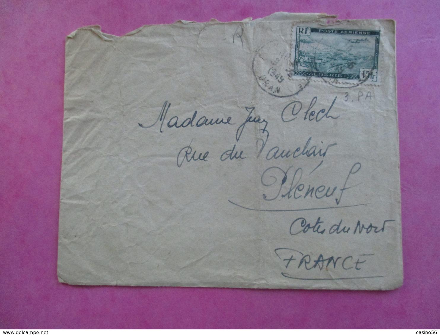 TIMBRE LETTRE ALGERIE POSTE AERIENNE - Algérie (1962-...)