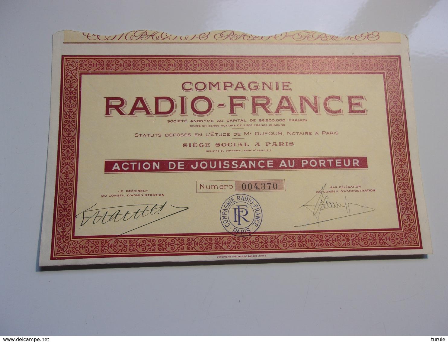 RADIO FRANCE - Non Classés
