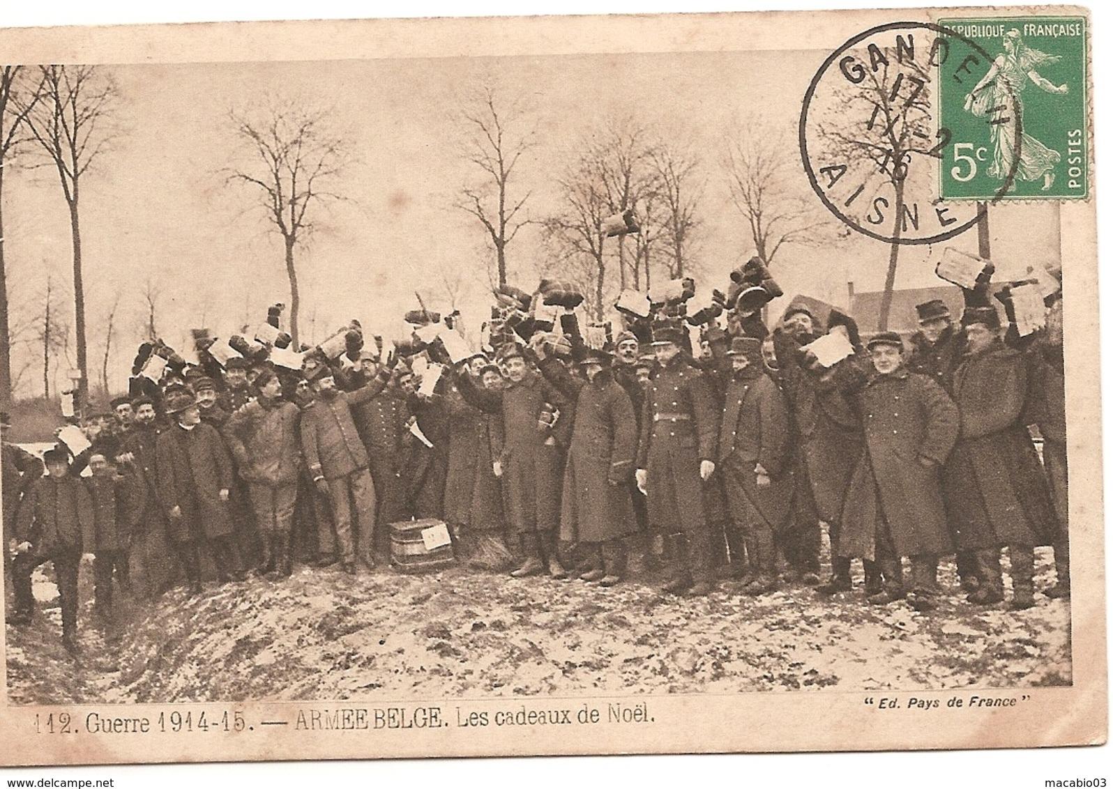 Belgique - Guerre De 14-18  Armée Belge , Les Cadeaux De Noël  Réf 5417 - Belgium