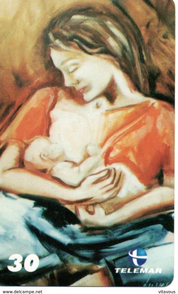 Femme Allaitement Bébé Peinture  Télécarte Phonecard  (G 562) - Brésil