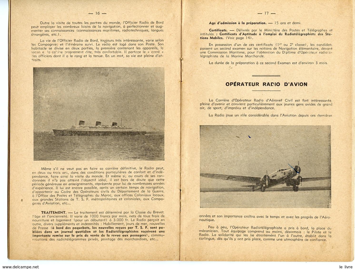 BROCHURE VERS 1940. LES SITUATIONS DE LA T.S.F. LE SERVICE MILITAIRE DANS LA RADIO - Documents