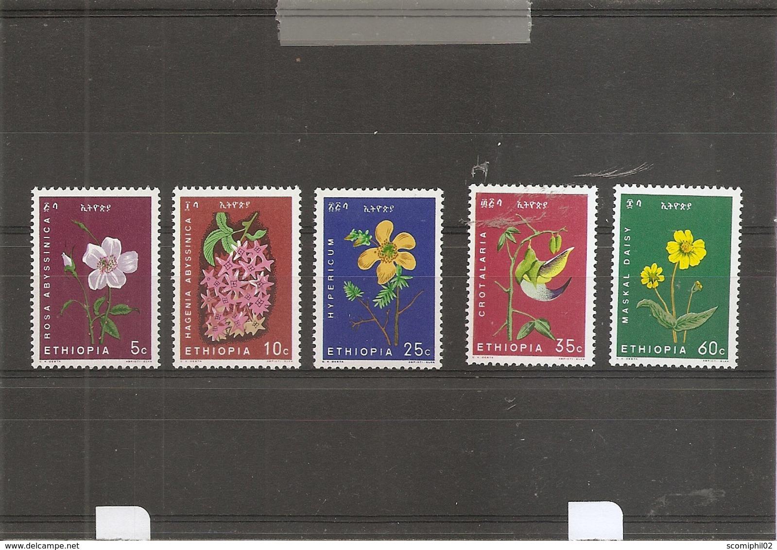 Fleurs ( 440/444 XXX -MNH- D'Ethiopie) - Sin Clasificación