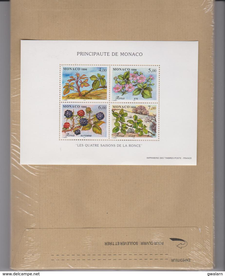 MONACO 1 Bloc Feuillet  Neuf N° YT BF74 -1996 - Les Quatre Saisons De La Ronce - Blocs