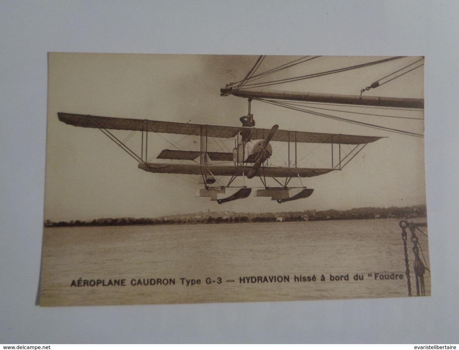 """Aéroplane Caudron ,type G-3  Hydravion Hissé à Bord Du """"foudre"""" - 1919-1938: Entre Guerres"""
