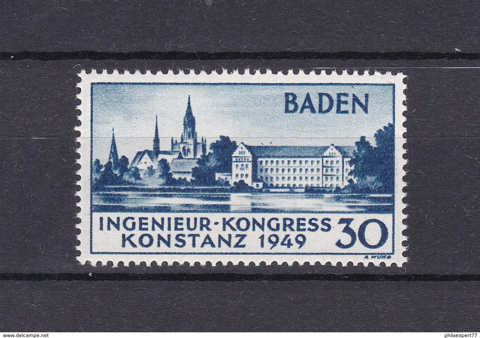 Baden - 1949 - Michel Nr.46 - Ungebr. - 26 Euro - Französische Zone
