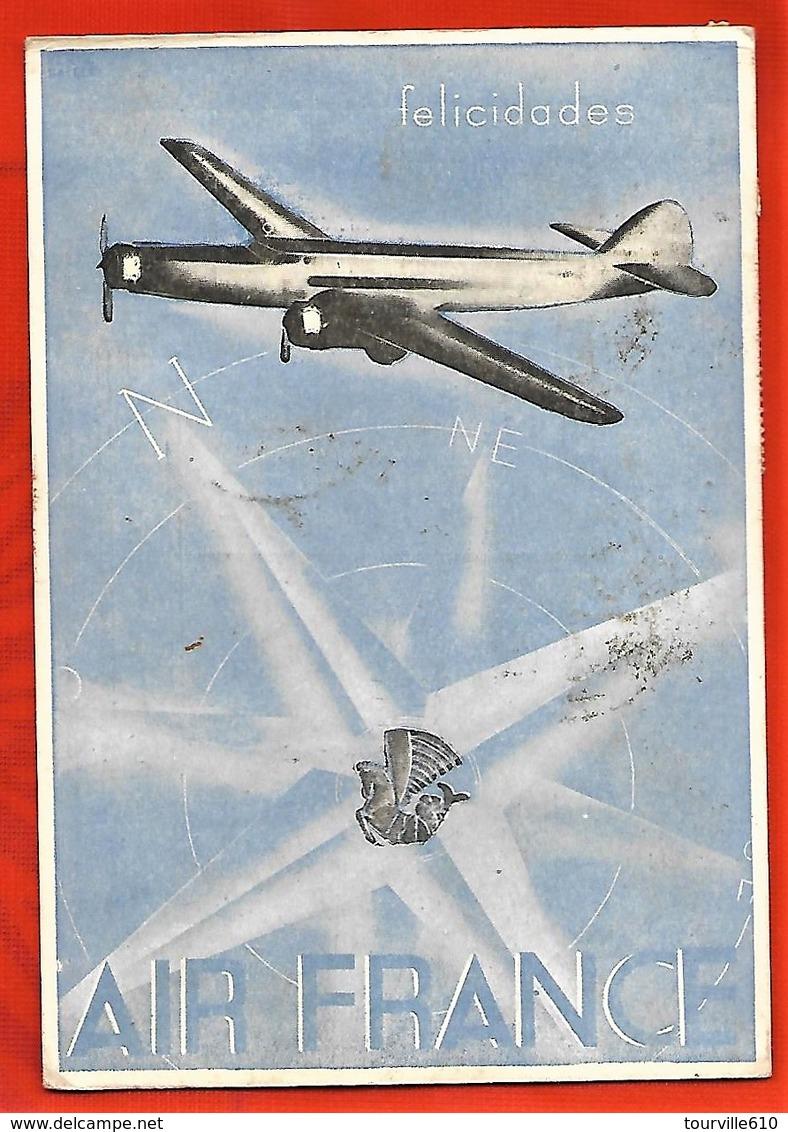 AIR FRANCE Carte Du Chili  Timbres Du Chili - 1919-1938: Entre Guerres