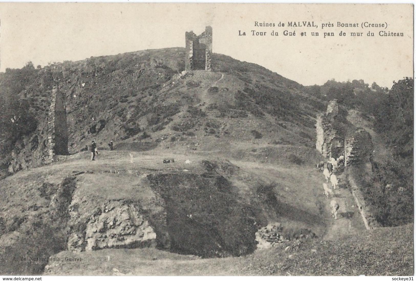 23 -BONNAT - Ruines De Malval - Années 1910s - France