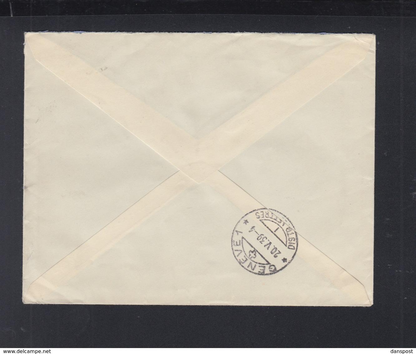 France Lettre 1939 Paris Pour Geneve - Poststempel (Briefe)