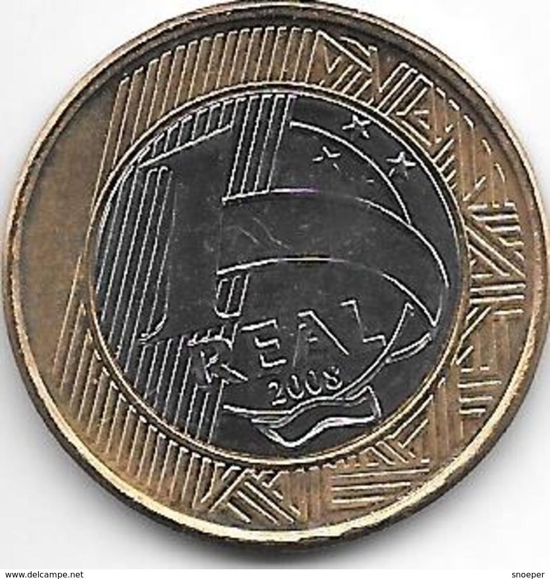 Brazil  1 Real  2008  Km 652a Unc - Brésil