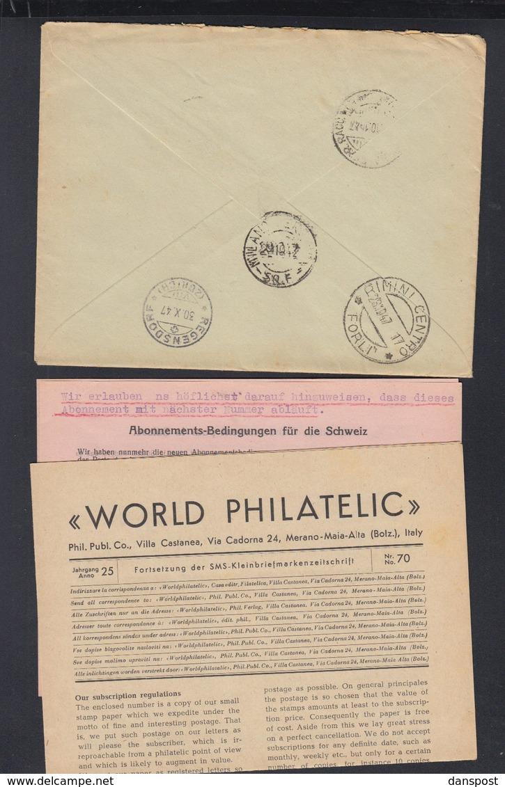 San Marino R-Brief 1947 Nach Schweiz - San Marino