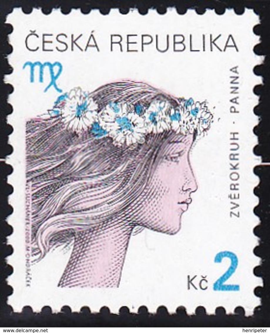 Timbre-poste Gommé Neuf** - Signe Du Zodiaque Vierge - N° 246 (Yvert) - République Tchèque 2000 - Neufs