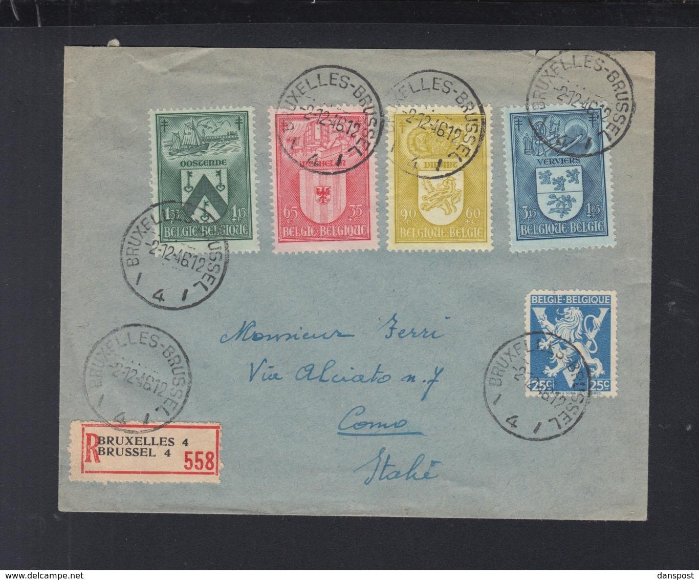 Lettre Brussel 1946 Pour Italie - Belgien