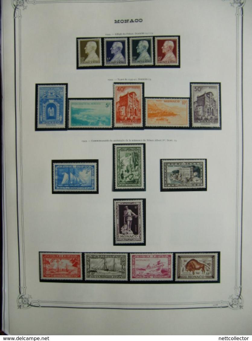 COLLECTION MONACO ANNEES 1940 / 1959 NEUFS* / ** TB / SUP. COTE IMPORTANTE - Monaco