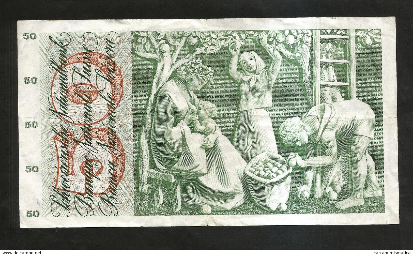 SVIZZERA / SUISSE / SWITZERLAND - NATIONAL BANK - 50 FRANCS / FRANKEN (1973) APFELERNTE - Svizzera
