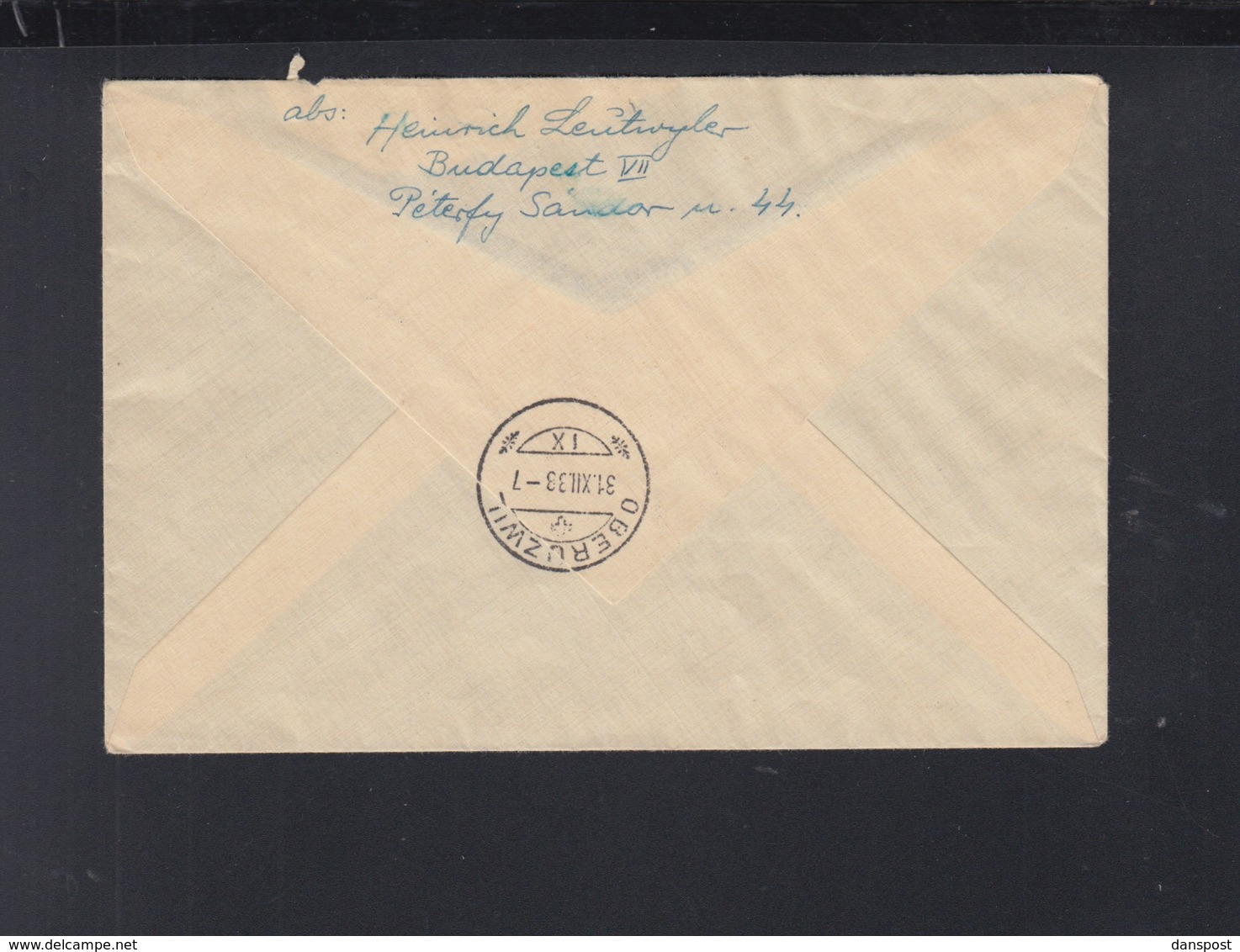 Hungary Registered Cover Overprints 1938 To Switzerland - Ungarn