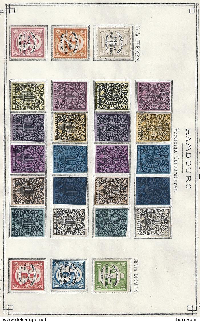 Selten Sammlung Privat Post / Poste Privée Collection Rare . 9 Scans . - Hamburg
