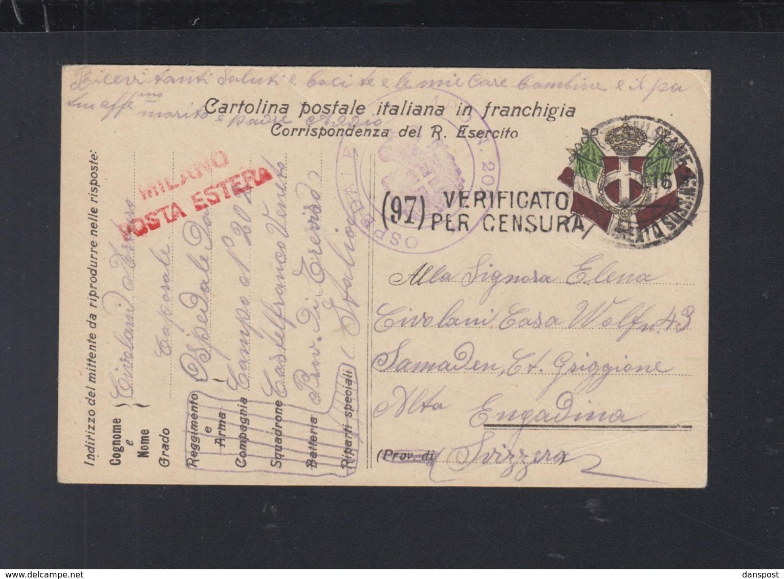 Cartolina Esercito 1916 - 1900-44 Victor Emmanuel III.