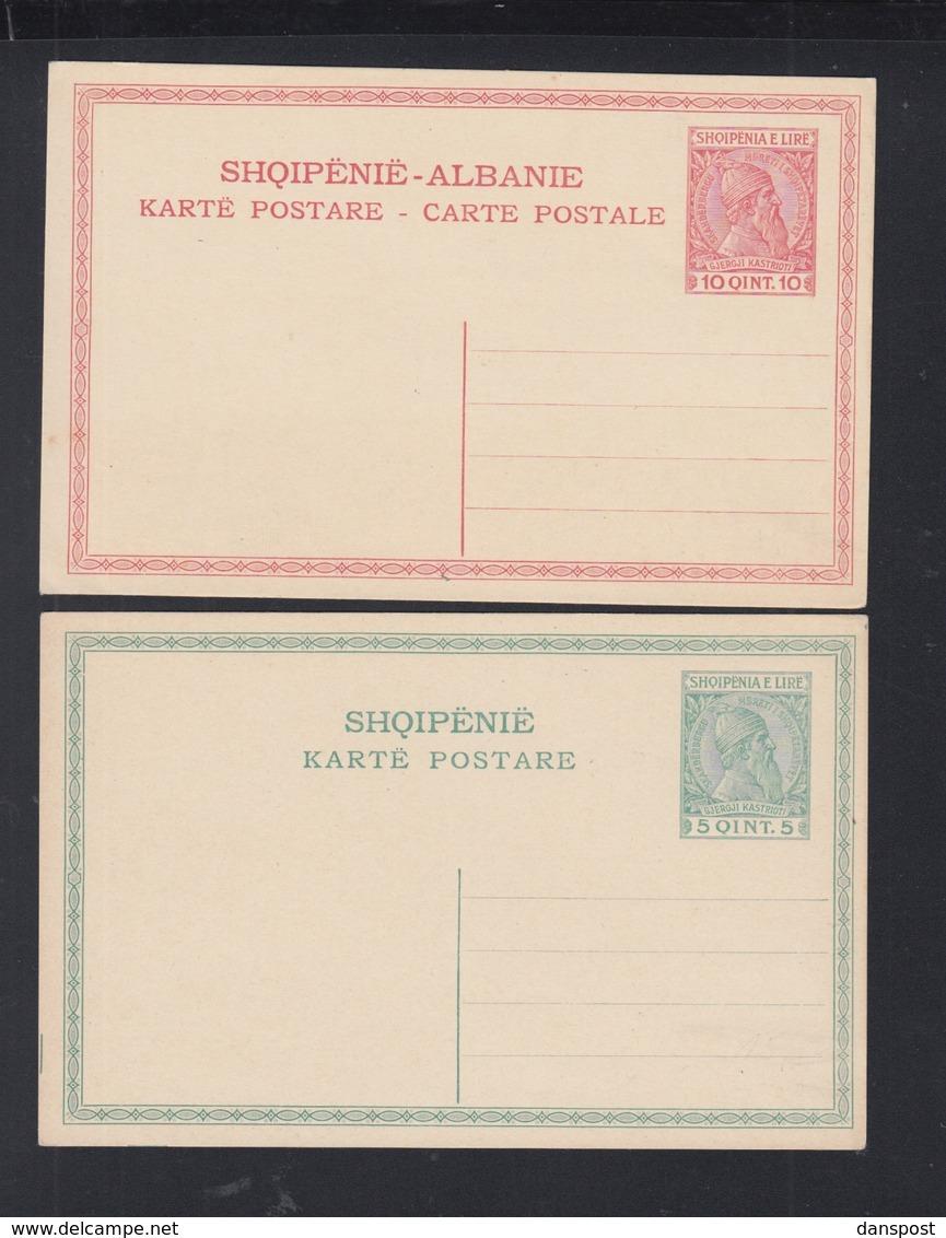 Albania 2 Stationeries Unused - Albanien