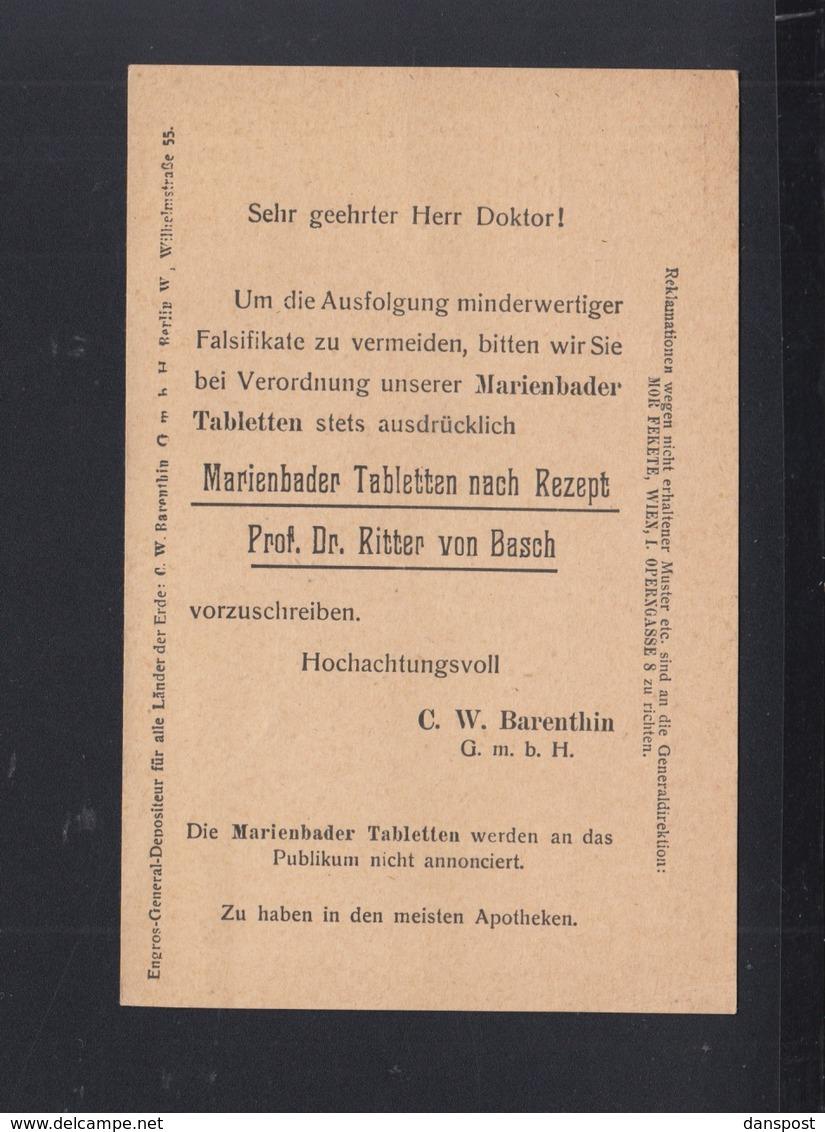 KuK GSK 1913 Wien Vordruck Marienbader Tabletten - Ganzsachen