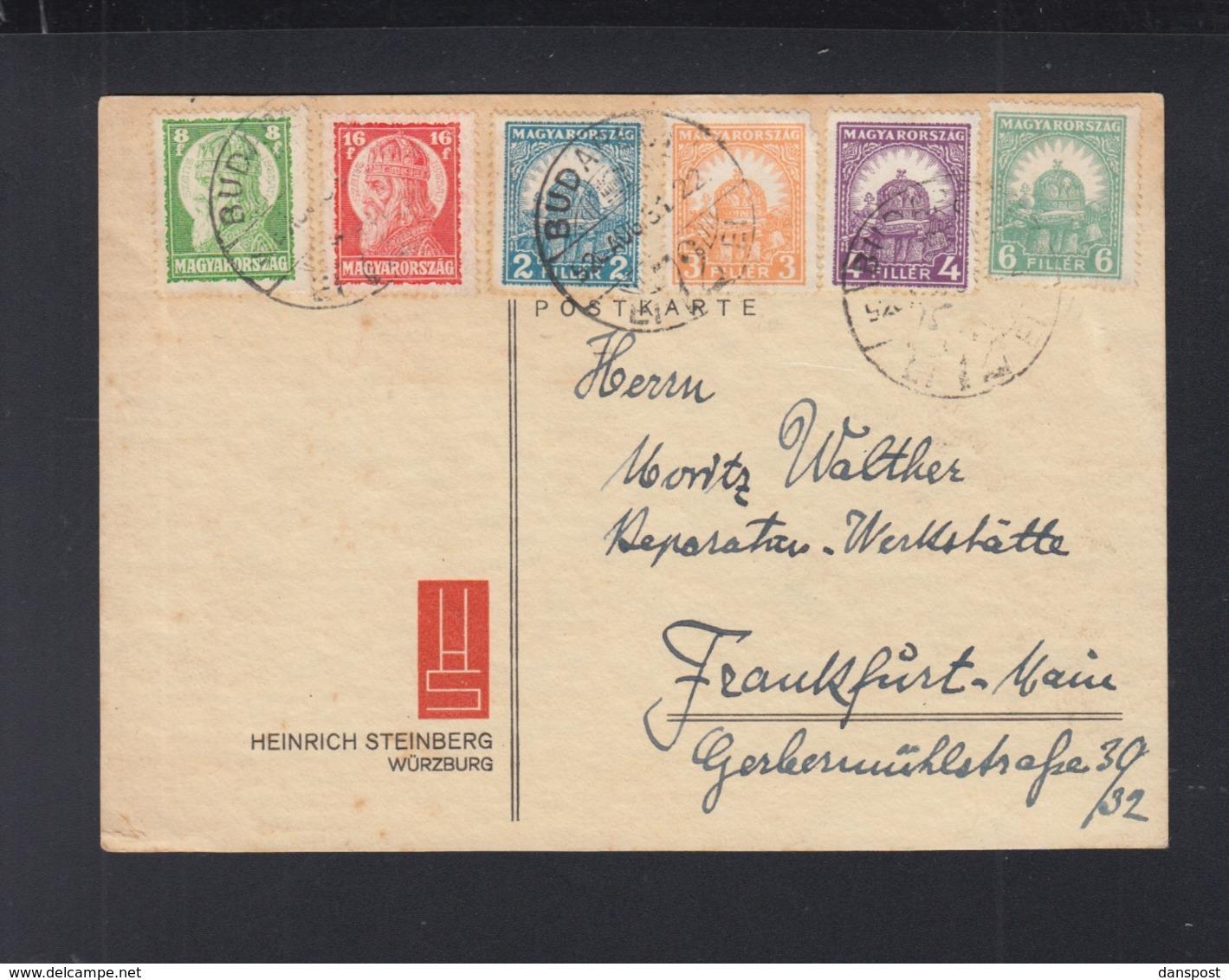 Hungary PC 1928 To Frankfurt Am Main - Ungarn