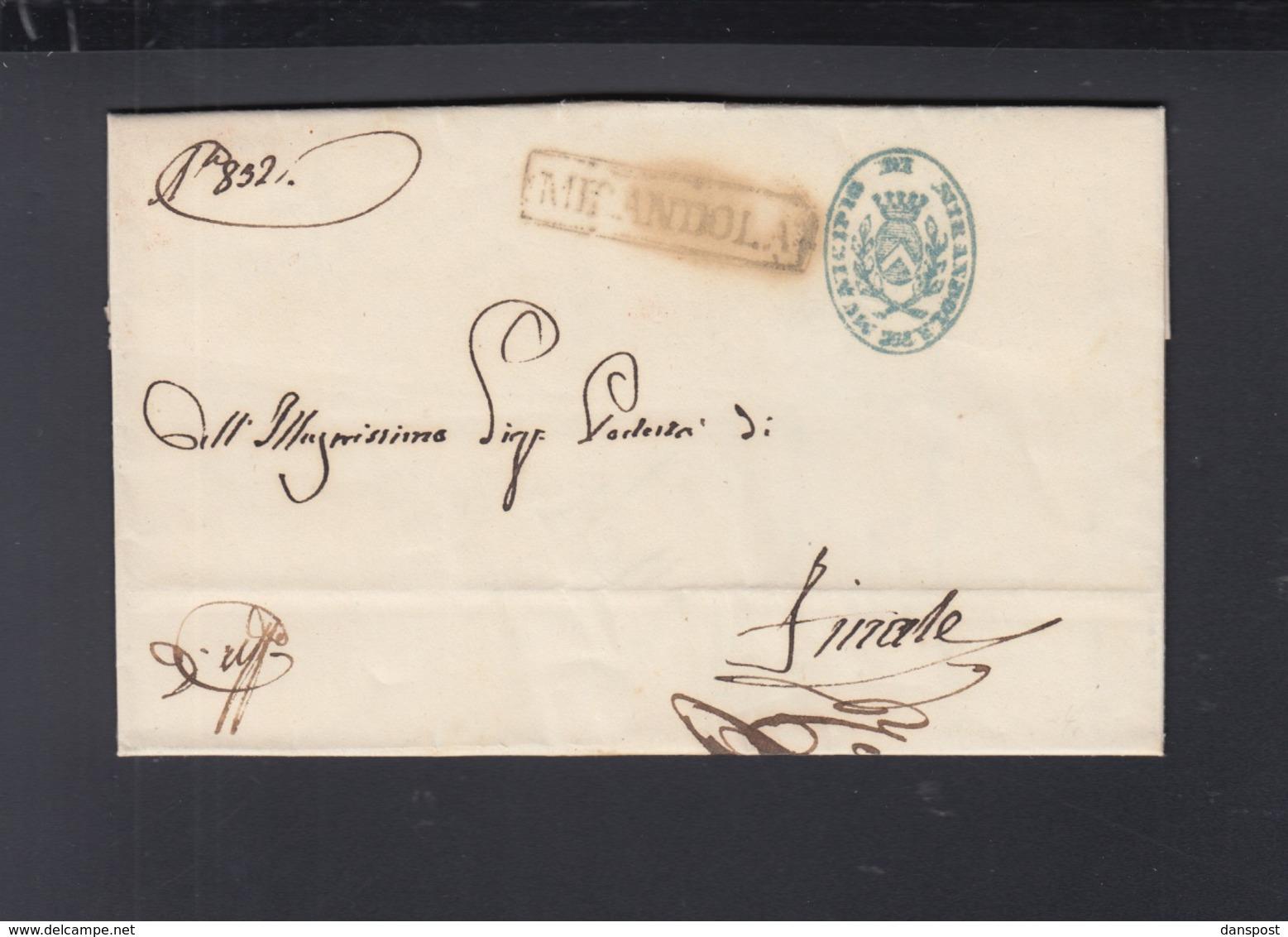 Lettera 1849 Mirandola - Italien